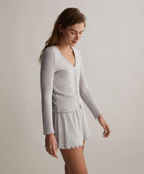 Plain comfort feel cardigan