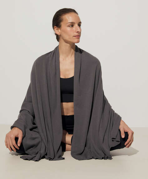 Yogadecke aus Baumwolle und Seide
