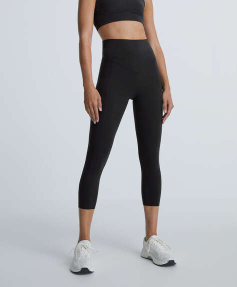 Compressive crop leggings