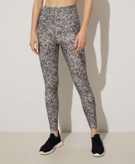 Paisley floral print compression leggings