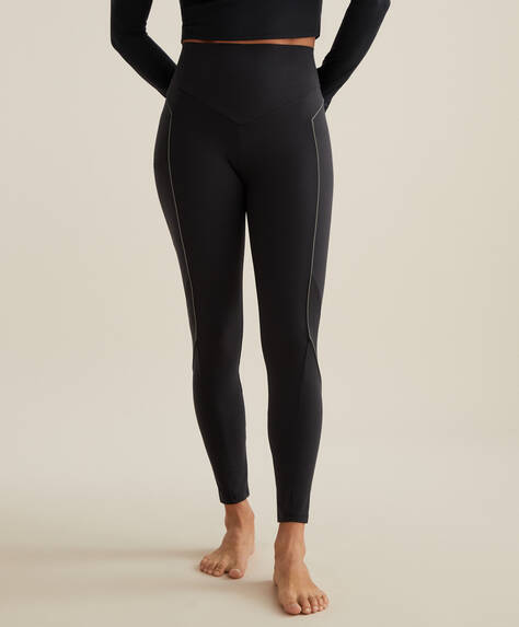 Reflective print compression leggings