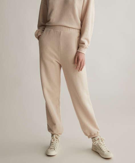Calças jogger em algodão