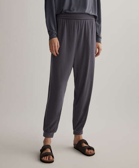 Soft touch modal harem trousers
