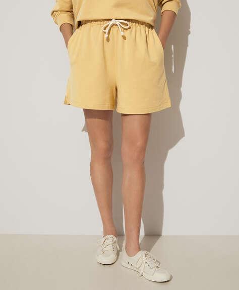 Modal plush Bermuda shorts