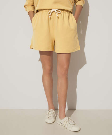 Modal plush Bermuda shorts