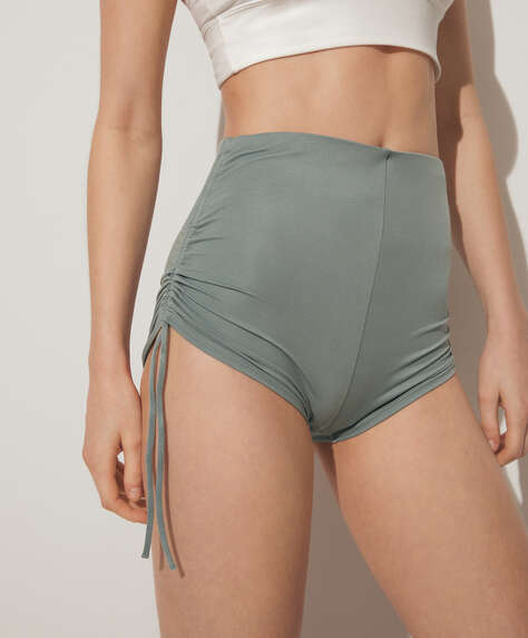 Side tie hot pants