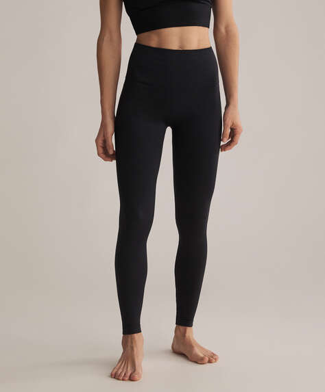 Leggings med kompression, seamless