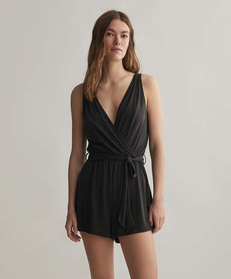 Soft touch short jumpsuit