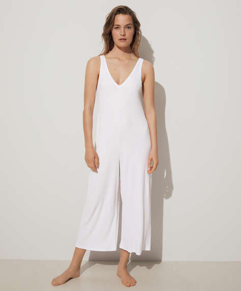 Rib lounge jumpsuit