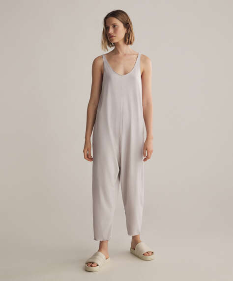 Cotton relax jumpsuit