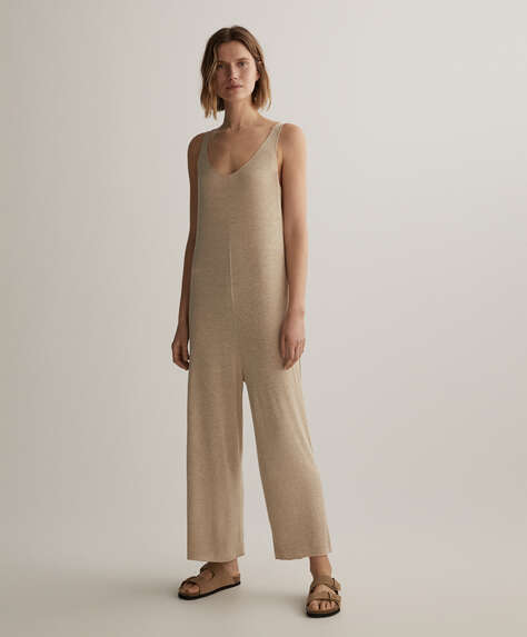 Natural rustic jumpsuit