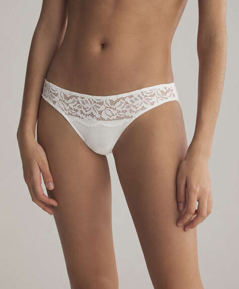 3 cotton and lace classic briefs