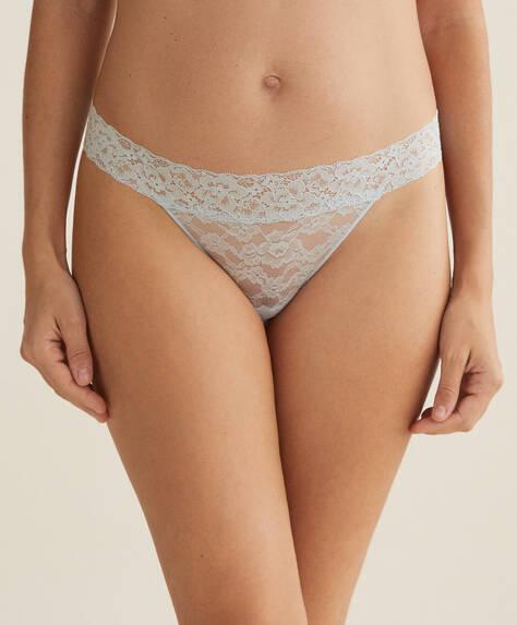 3 soft lace thongs