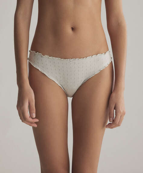 3 cutwork Brazilian briefs