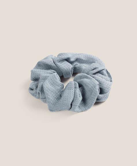 Våfflad hårsnodd 100 % linne