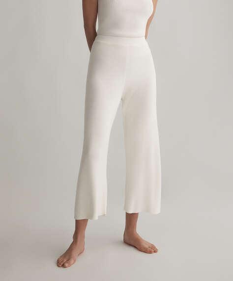 Calças culotte de malha