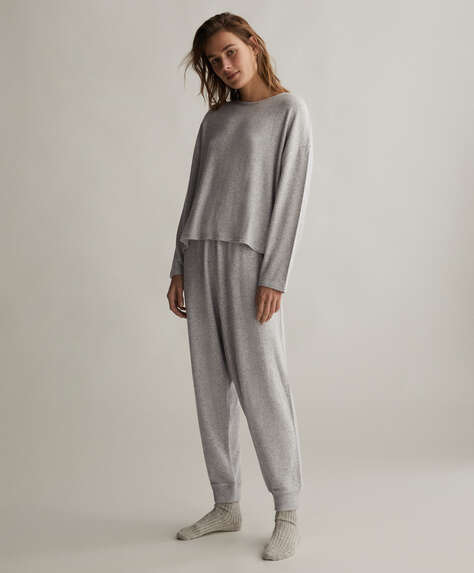 Grey comfort feel harem trousers