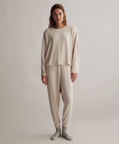 Grey comfort feel harem trousers