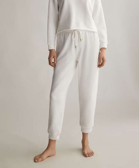 Plain cotton trousers