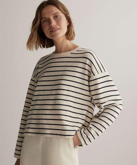 Stripe cotton sweatshirt