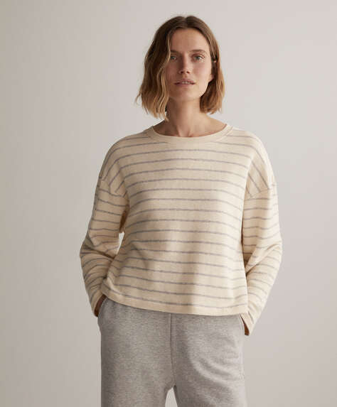 Stripe cotton sweatshirt
