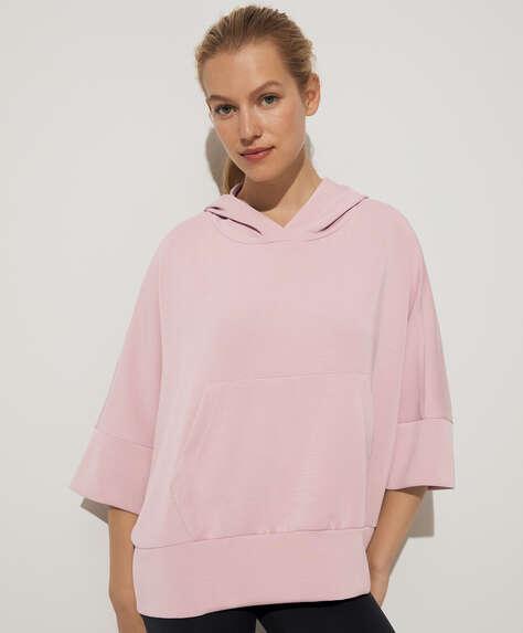Hooded modal sweatshirt