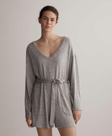 Short knit jumpsuit
