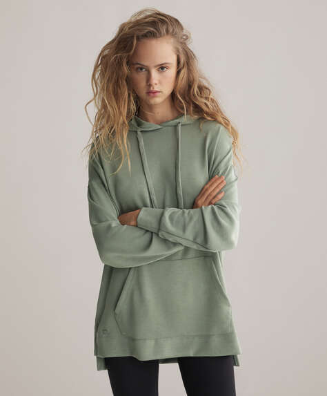 Long soft touch modal sweatshirt