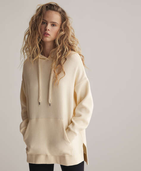 Strick-Sweatshirt mit Oversize-Schnitt