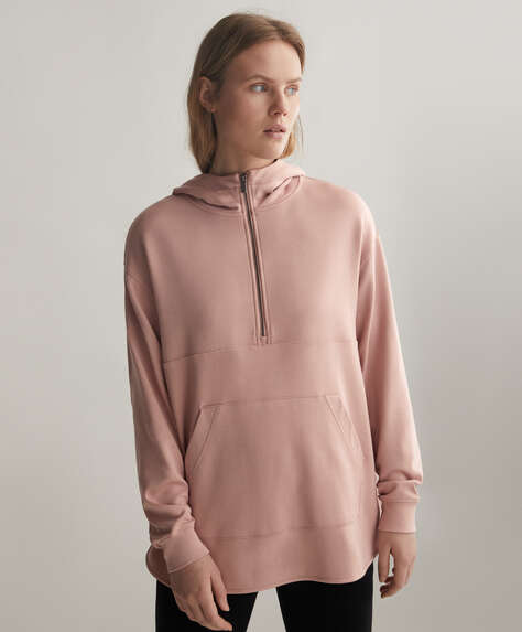 Oversized sweater van TENCEL® met rits