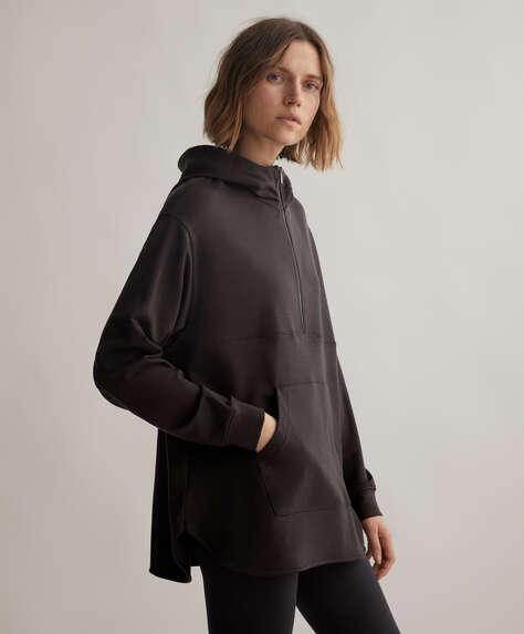 Oversize TENCEL® sweatshirt with zip
