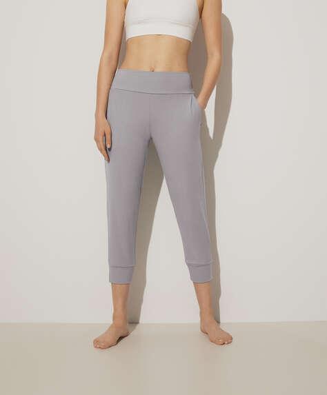Pale grey Comfort capri joggers