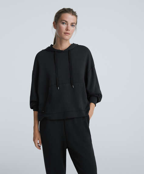 Oversize sweatshirt med soft-touch