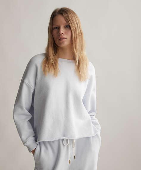 Plain cotton sweatshirt