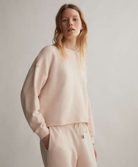 Effen sweater van katoen