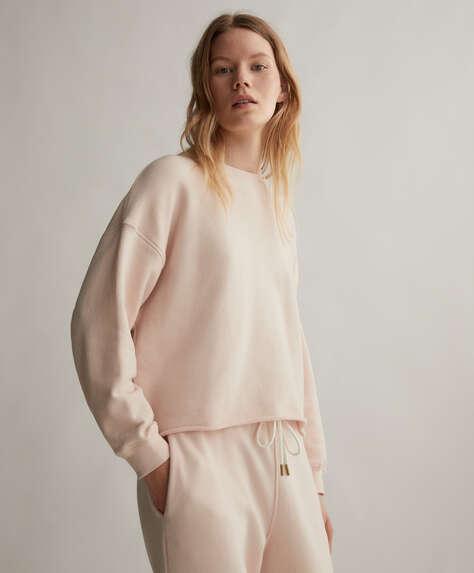 Sweatshirt lisa em algodão