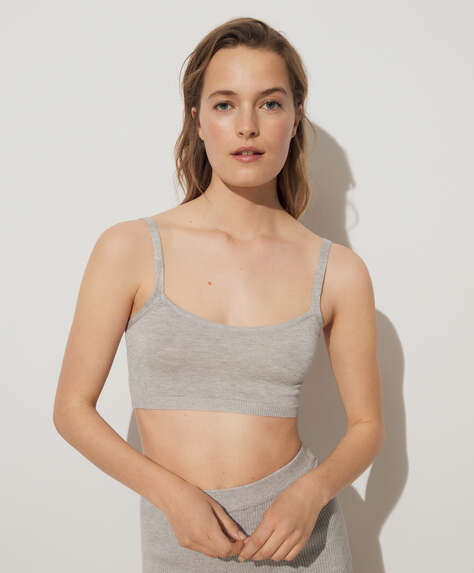 Fine knit bralette top
