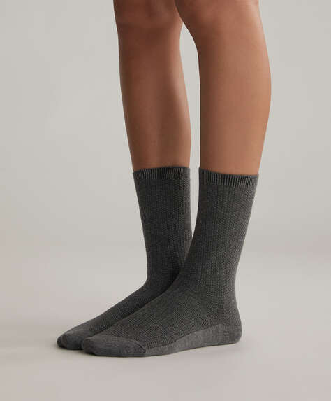 5er-Pack mittellange Socken aus Baumwollmischung mit Blumenmuster