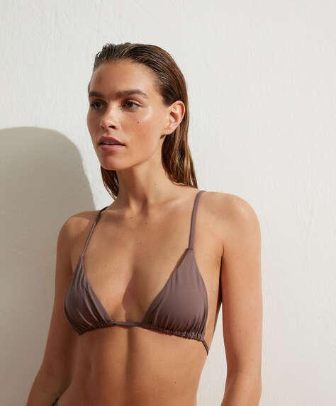 Haut de bikini triangle slim coulissant