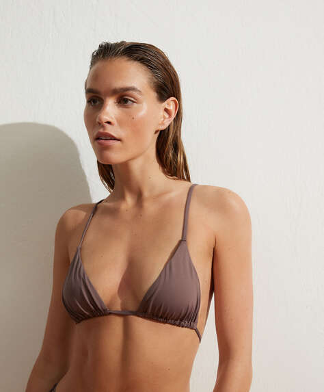 Slim slide triangle bikini