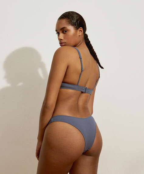 Recycled piqué slim Brazilian bikini briefs