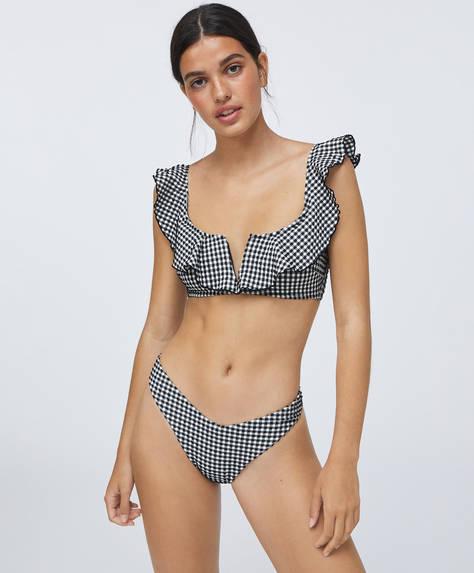 V-cut Brazilian bikini briefs