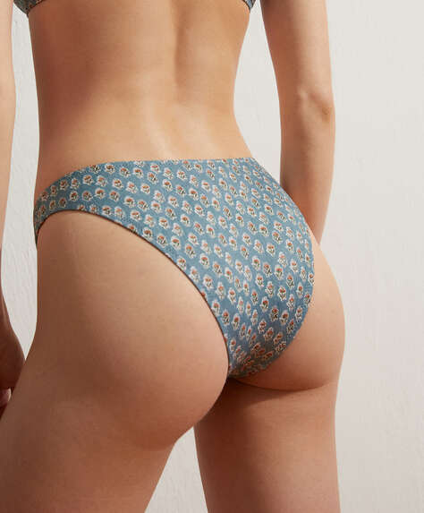 Printed Brazilian bikini briefs