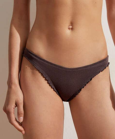 Curled edge seamless U-cut Brazilian bikini briefs