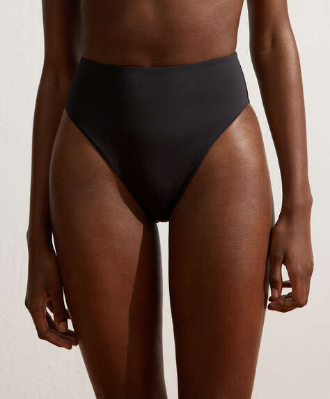 High-waisted Brazilian bikini briefs