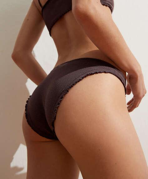 Seamless curly classic bikini briefs