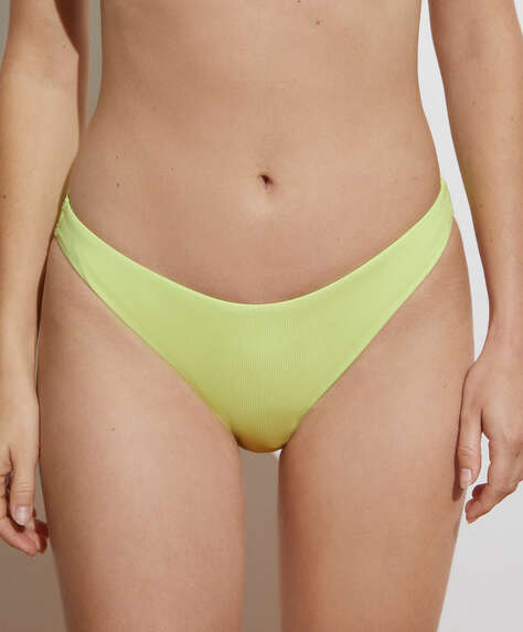 Ribbed popper classic bikini briefs