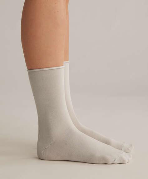 2 pairs of modal crew socks