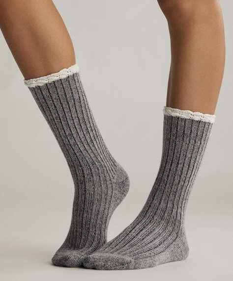 2 ζεύγη κάλτσες ρουστίκ ριμπ
