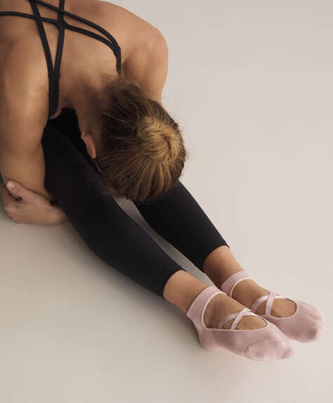 2 pairs of cotton yoga and Pilates socks